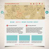 Creative idea website template, vector