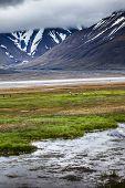 Beautiful Scenic View Of Spitsbergen (svalbard Island), Norway