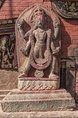 A Statue In Changu Narayan - The Oldest Temple Of The Kathmandu Valley