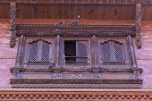 A Traditional Window Of A House In Bhaktapur