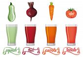 fresh vegetables juice