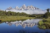 Schwabacher's Landing in Grand Teton National Park, Wyoming