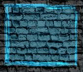 blue brick wall textured background