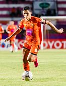 Sisaket Thailand-july 13: Sarayuth Chaikamdee Of Sisaket Fc. In Action During Thai Premier League Be