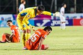 Sisaket Thailand-july 13: Weera Koedpudsa Of Tot S.c. (yellow) In Action During Thai Premier League