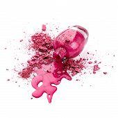 Pink Nail Polish With Eye Shadow