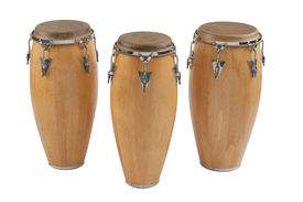 image of congas  - Three of congas the percussion of music band - JPG