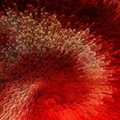 Abstract red textured background. 3D effect. Illustration.