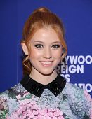 LOS ANGELES - AUG 14:  Katherine McNamara arrives to the HFPA Annual Installation Dinner 2014 on August 14, 2014 in Beverly Hills, CA