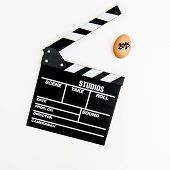 2015 Egg With Movie Clapper Board