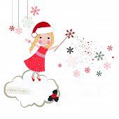 Christmas noel fairytale vector greeting card