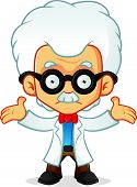 pic of professor  - Cartoon illustration of a professor with confuse expression - JPG