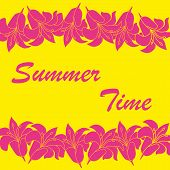 Vector abstract summer time background