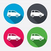 Car sign icon. Hatchback symbol.