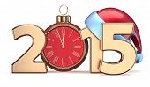 New 2015 Year Christmas Ball Alarm Clock Decoration