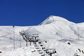 Winter Mountains And Ski Slope At Nice Sun Day
