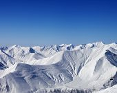 picture of lifting-off  - Winter mountains and chair - JPG