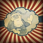 Santa Claus Retro Illustration