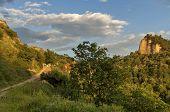 View to Melnik town area