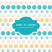 Vector texture circles stripes abstract frame seamless pattern background