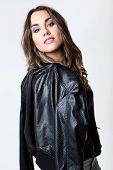 Young Pretty Woman. Studio Fashion Portrait.