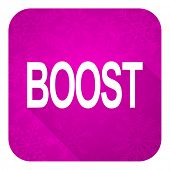 boost violet flat icon, christmas button