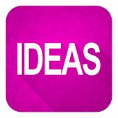 ideas violet flat icon, christmas button