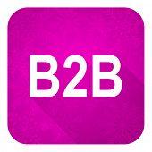 b2b violet flat icon, christmas button