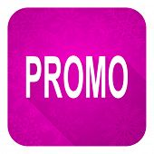 promo violet flat icon, christmas button