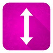 arrow violet flat icon, christmas button