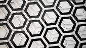 geometric background from hexagon shapes