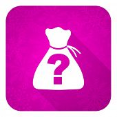 riddle violet flat icon, christmas button