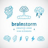 Brainstorm Abstract Creative Logo Template