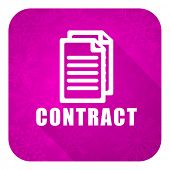 contract violet flat icon, christmas button