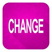 change violet flat icon, christmas button