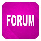 forum violet flat icon, christmas button