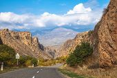 picture of armenia  - The view of road in Armenia in autumn - JPG
