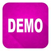 demo violet flat icon, christmas button