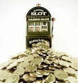 toy slot Machine and toy money