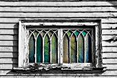 Curved Distressed Window