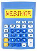 Calculator With Webinar On Display