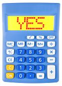 Calculator With Yes On Display