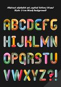Abstract alphabet ( style 3 ), capital letters ( 10eps )