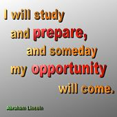Prepare & opportunity Quote - Abraham Lincoln