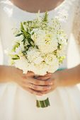 picture of sanctification  - Wedding bouquet in hands of the bride - JPG
