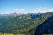 View of the rocky ridge
