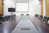 modern office meeting room interior