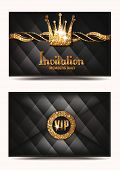 VIP invitation envelope with shiny crown