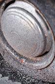 Rusty Rim And Flat Tire