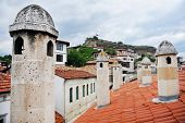 pic of ottoman  - Architecture detail with ottoman traditional houses in turkish historical city of Safranbolu - JPG